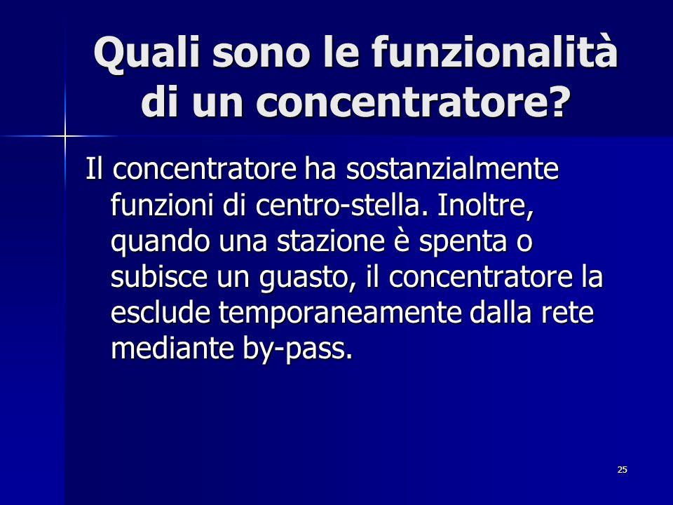 Quali sono le funzionalità di un concentratore