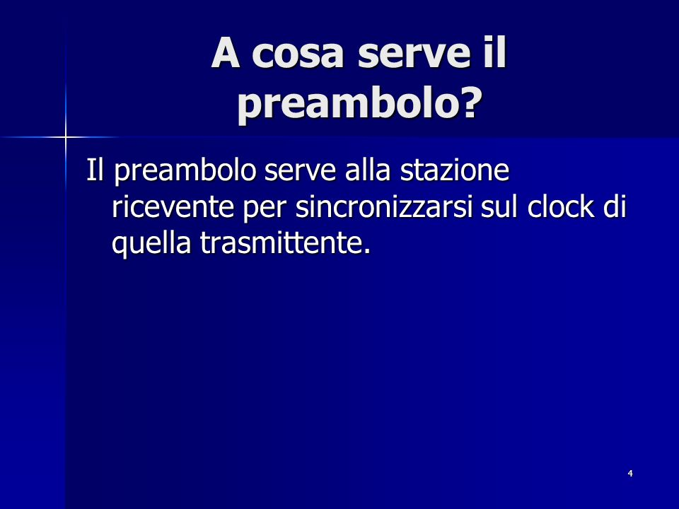 A cosa serve il preambolo