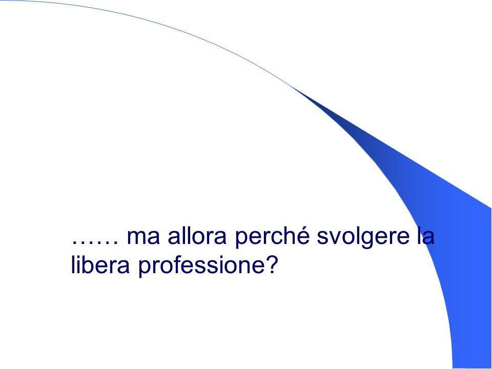 …… ma allora perché svolgere la libera professione