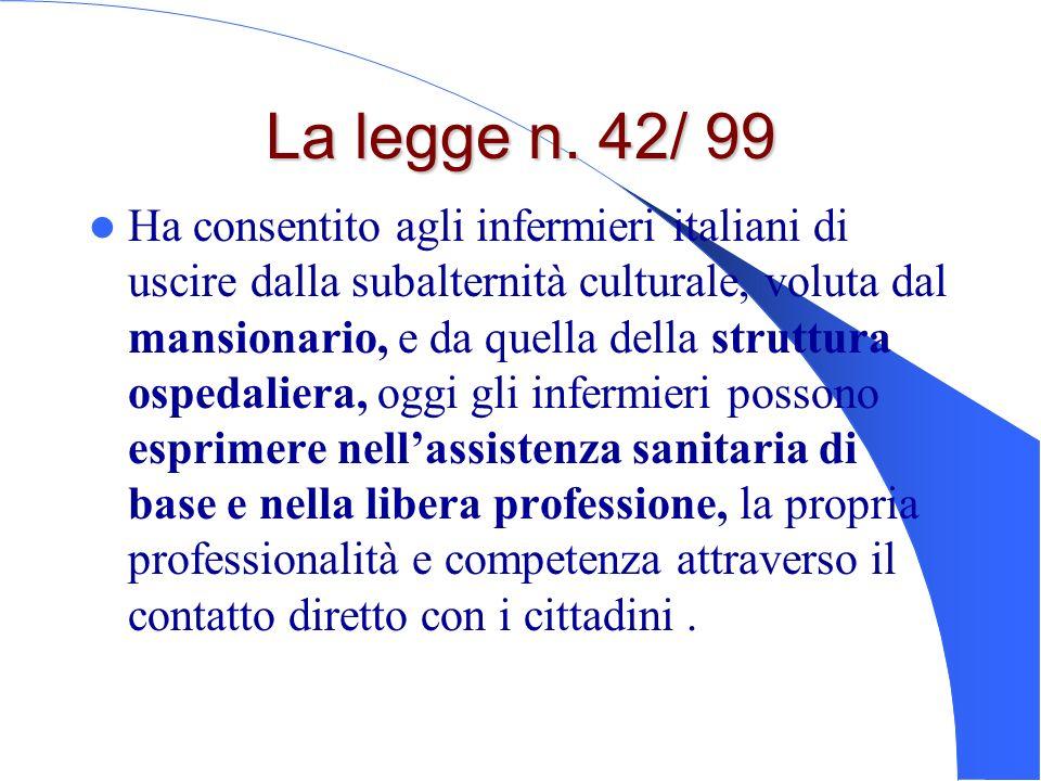 La legge n. 42/ 99