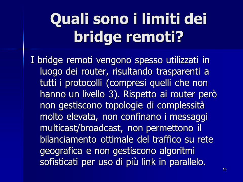 Quali sono i limiti dei bridge remoti