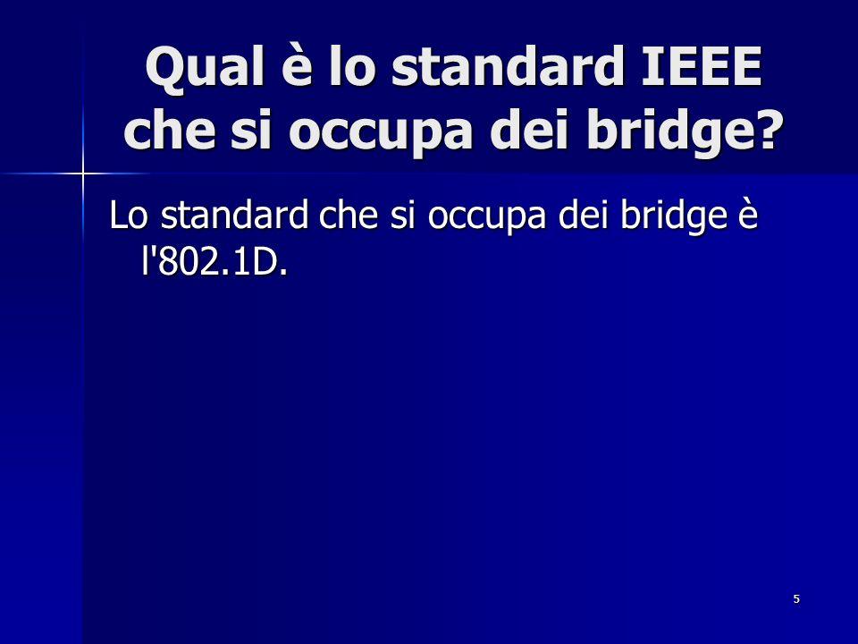 Qual è lo standard IEEE che si occupa dei bridge