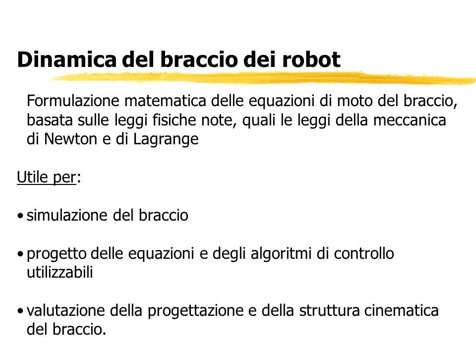 Dinamica del braccio dei robot