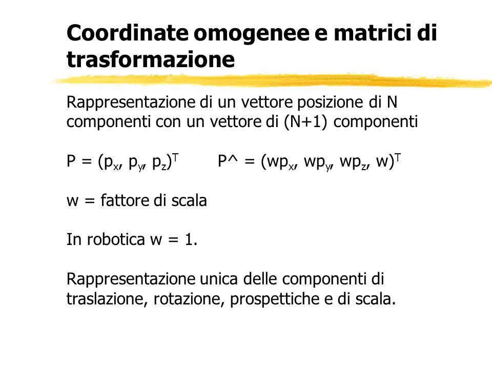 Coordinate omogenee e matrici di trasformazione