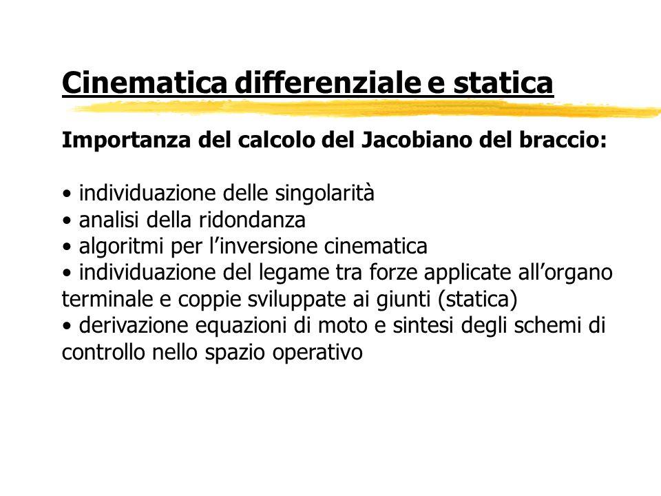 Cinematica differenziale e statica