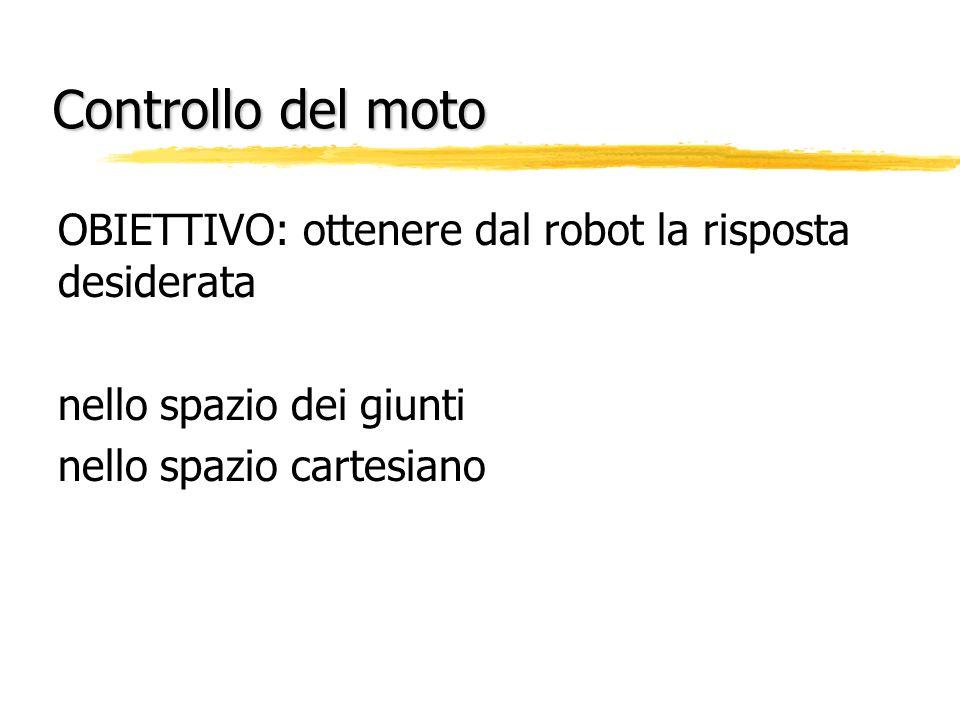 Controllo del moto OBIETTIVO: ottenere dal robot la risposta desiderata.