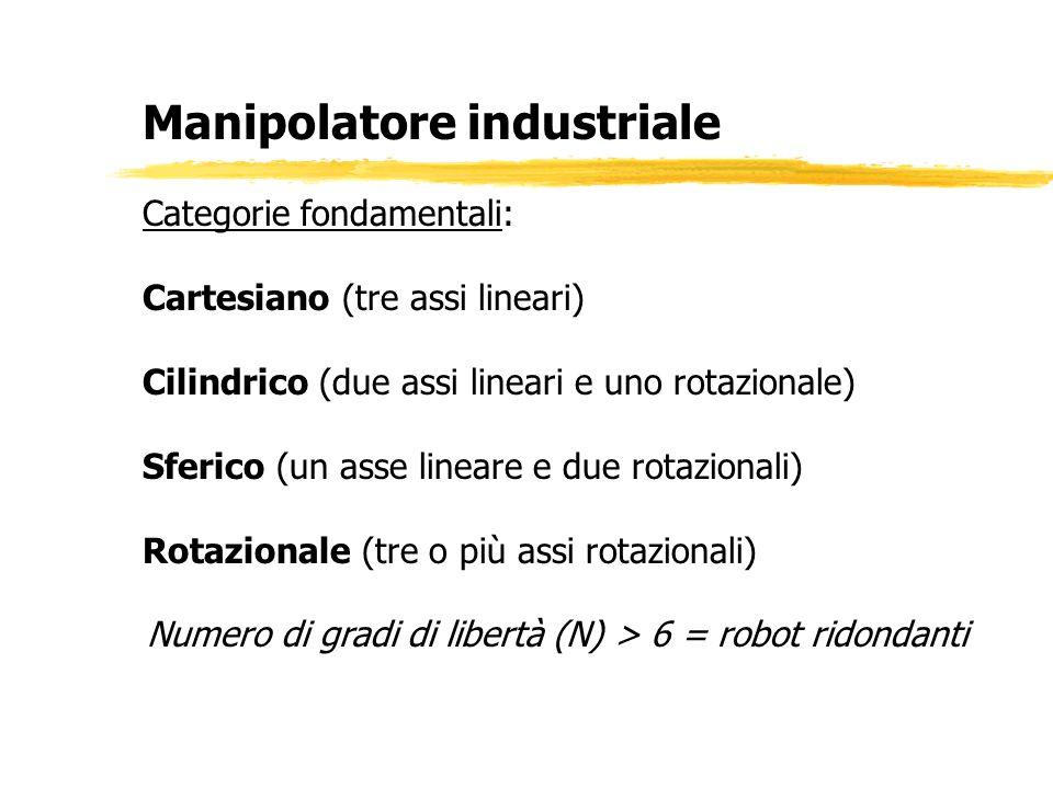 Numero di gradi di libertà (N) > 6 = robot ridondanti