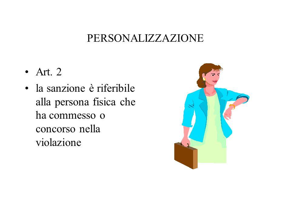 PERSONALIZZAZIONE Art. 2.