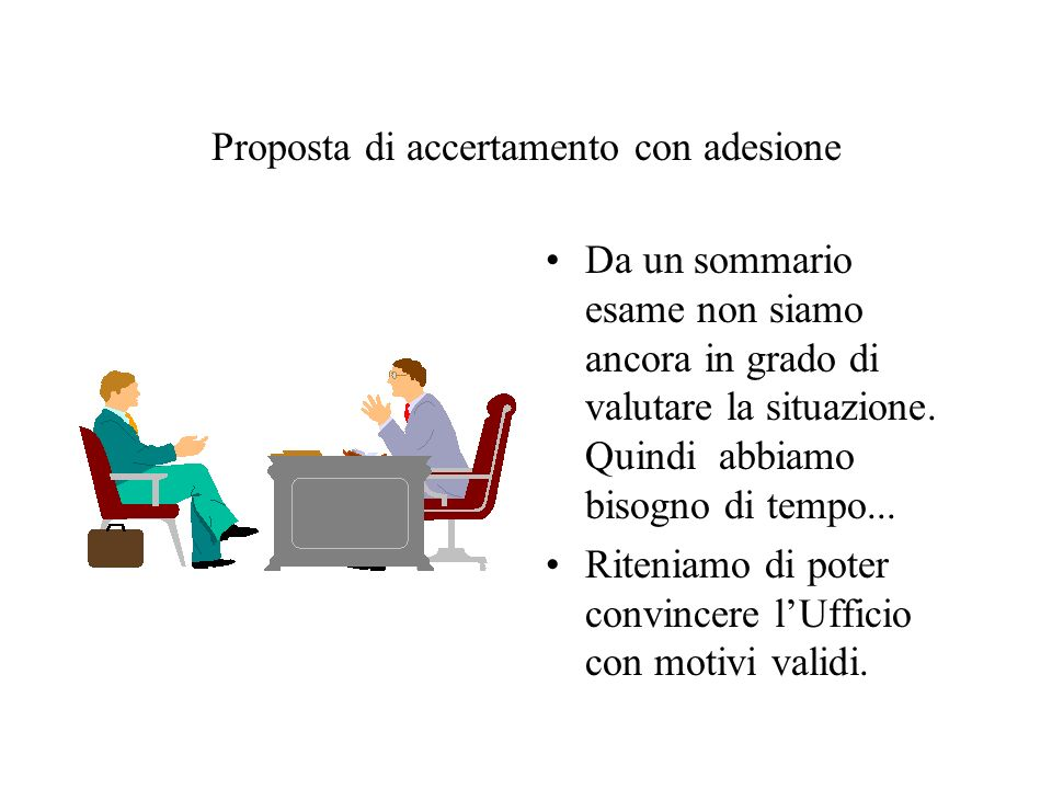 Proposta di accertamento con adesione