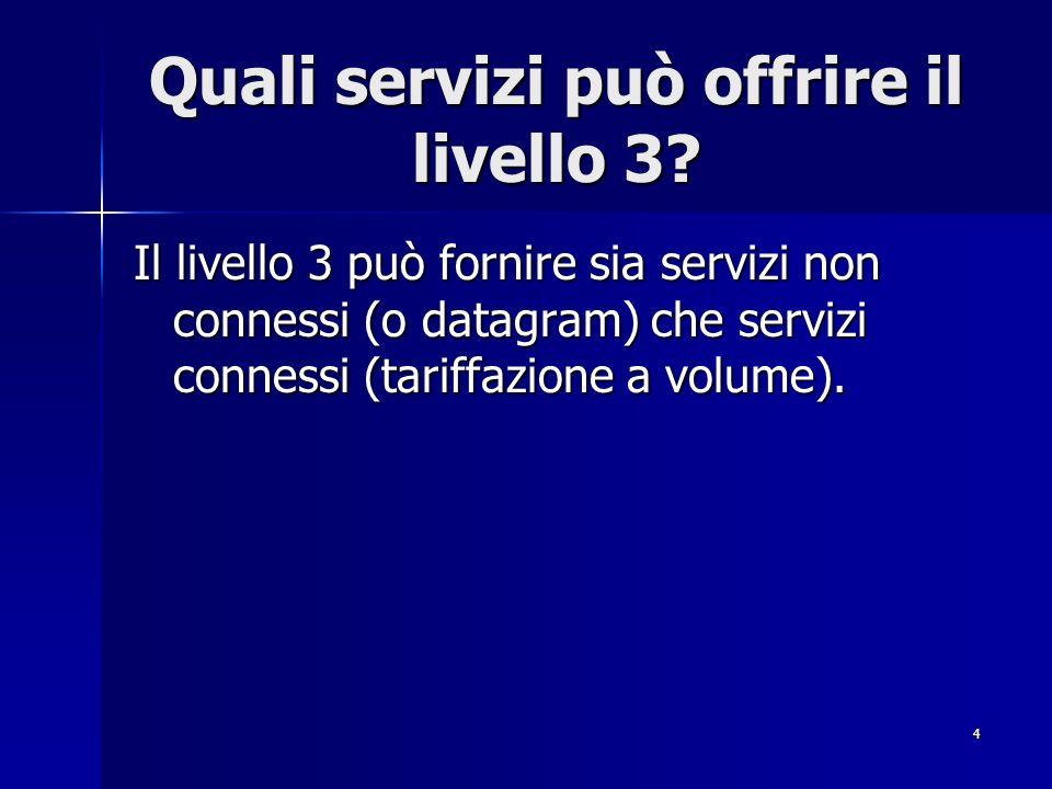 Quali servizi può offrire il livello 3