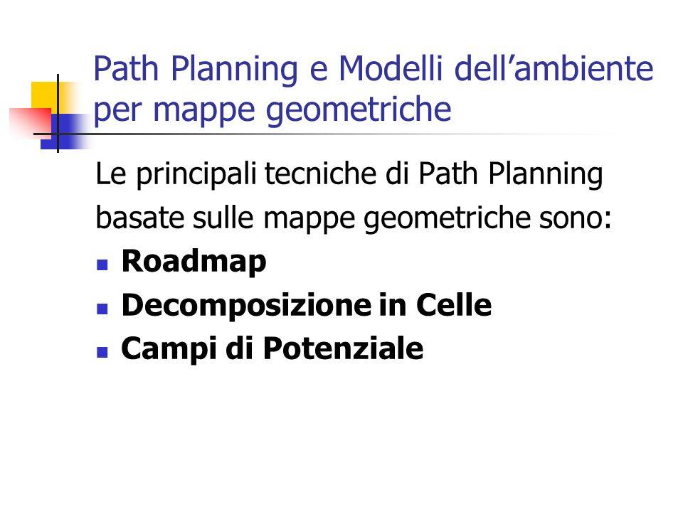 Path Planning e Modelli dell'ambiente per mappe geometriche