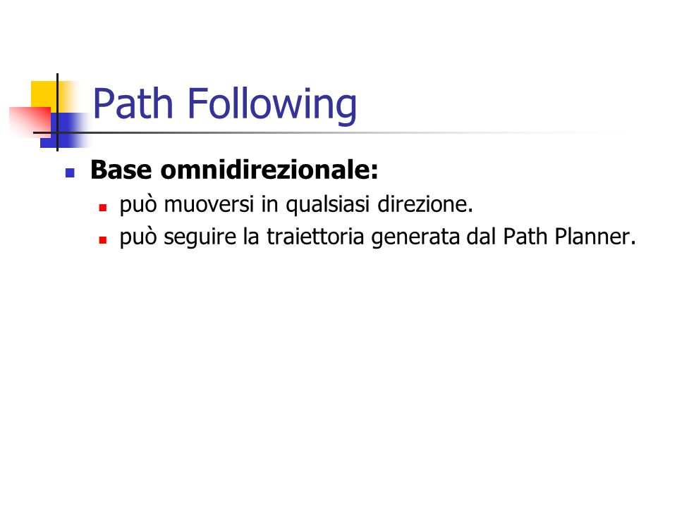 Path Following Base omnidirezionale: