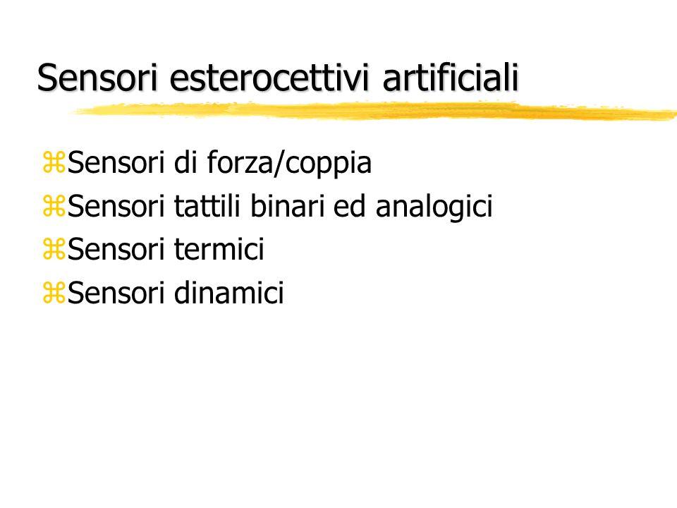 Sensori esterocettivi artificiali