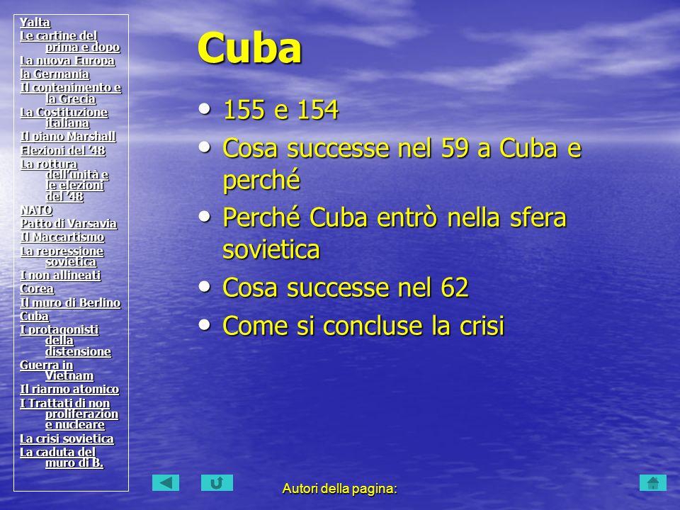 Cuba 155 e 154 Cosa successe nel 59 a Cuba e perché