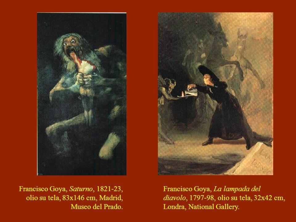 Francisco Goya, Saturno, 1821-23, olio su tela, 83x146 cm, Madrid, Museo del Prado.