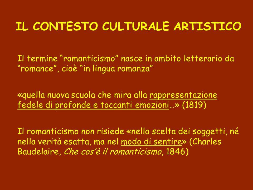 IL CONTESTO CULTURALE ARTISTICO