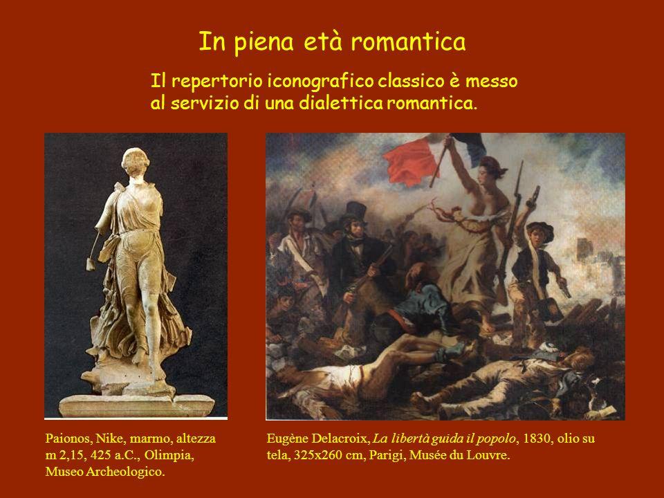 In piena età romantica Il repertorio iconografico classico è messo al servizio di una dialettica romantica.
