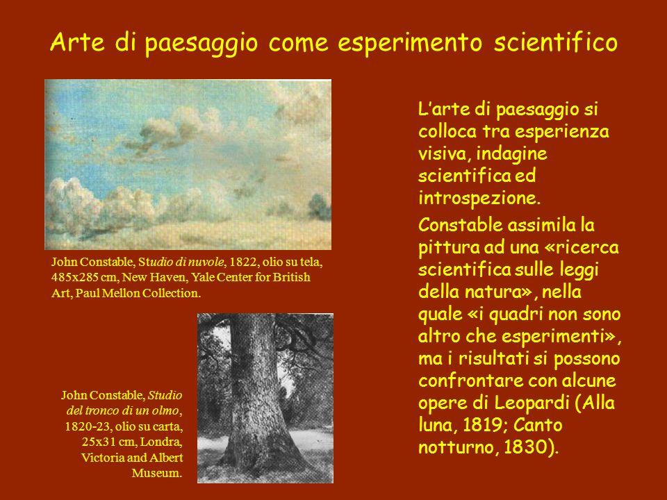 Arte di paesaggio come esperimento scientifico