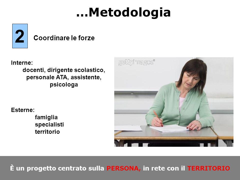 2 …Metodologia Coordinare le forze Interne:
