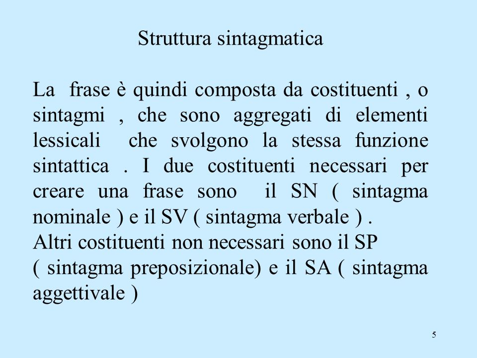 Struttura sintagmatica