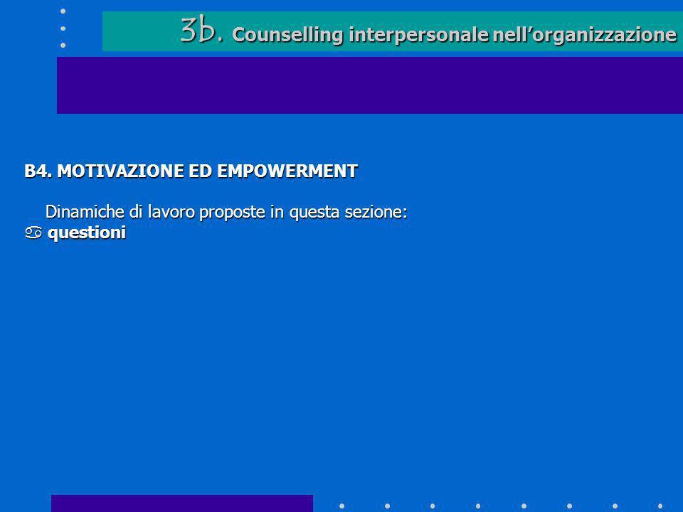 3b. Counselling interpersonale nell'organizzazione