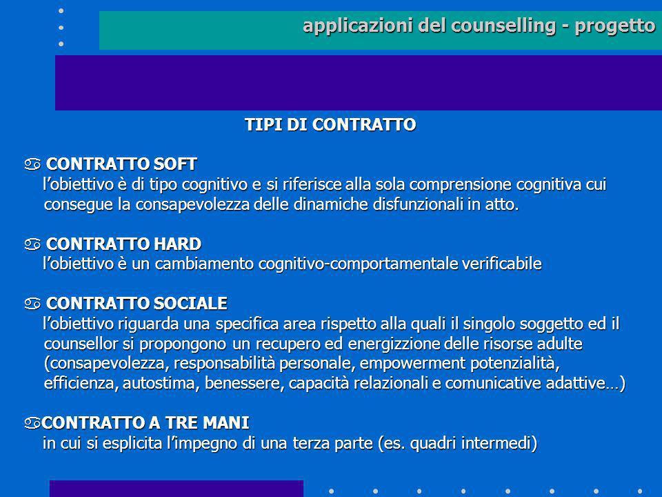 applicazioni del counselling - progetto