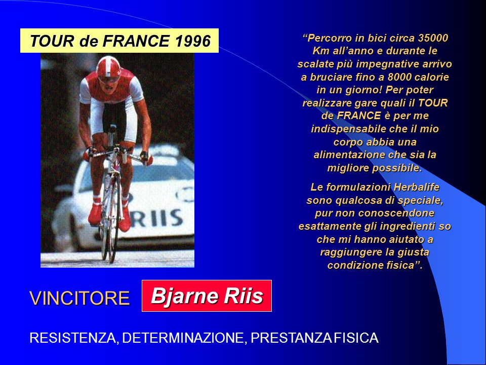 Bjarne Riis VINCITORE TOUR de FRANCE 1996