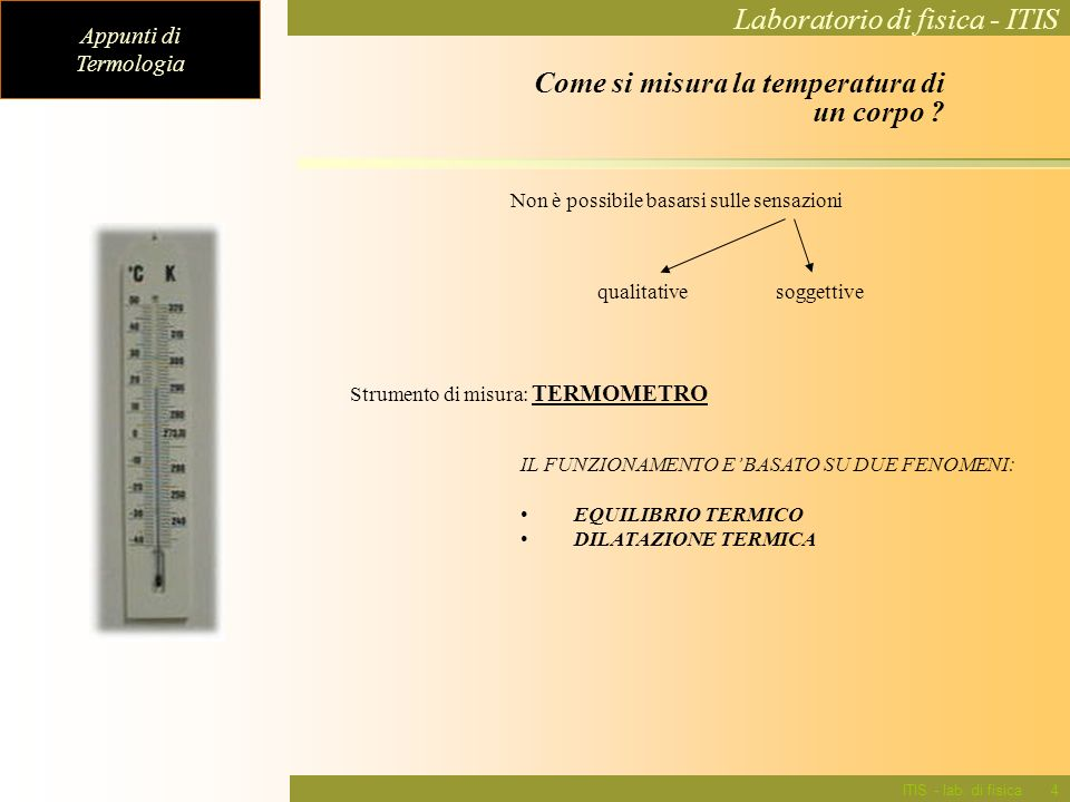 Come si misura la temperatura di un corpo