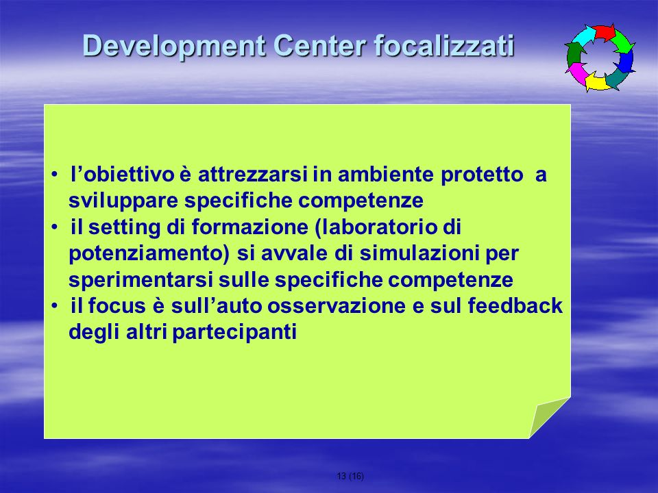 Development Center focalizzati