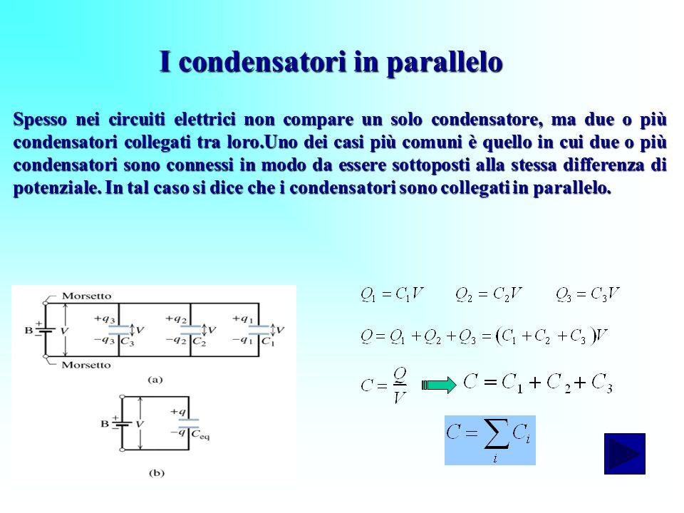 I condensatori in parallelo
