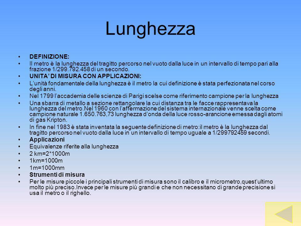 Lunghezza DEFINIZIONE: