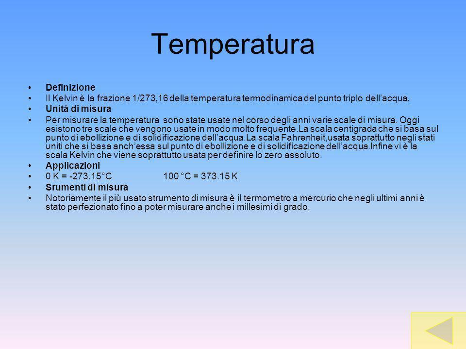 Temperatura Definizione