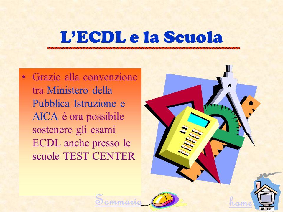 L'ECDL e la Scuola Sommario home