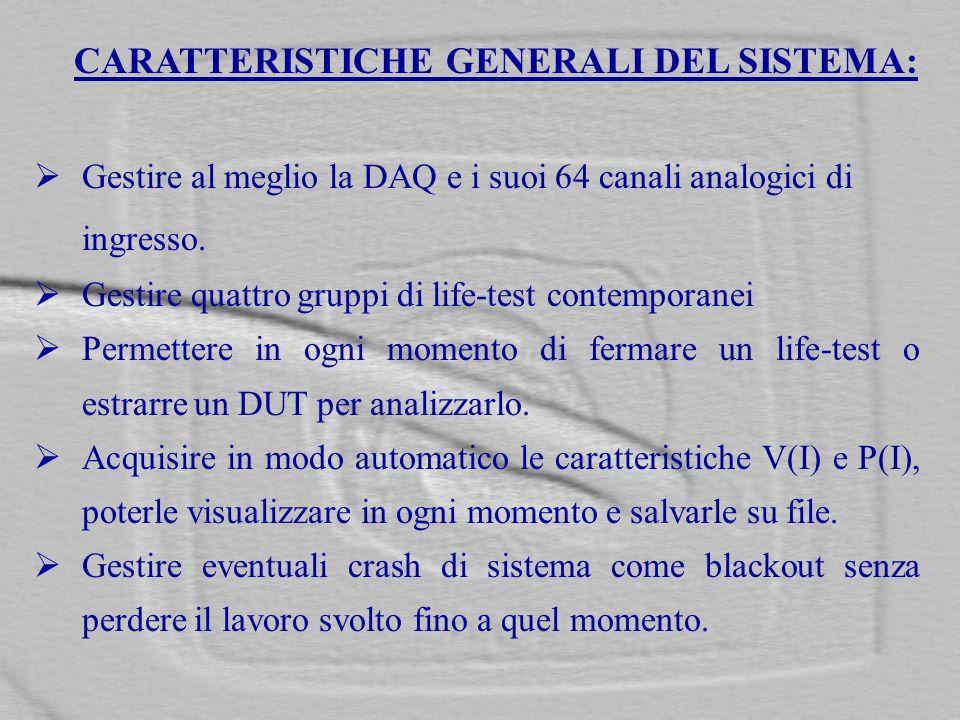 CARATTERISTICHE GENERALI DEL SISTEMA: