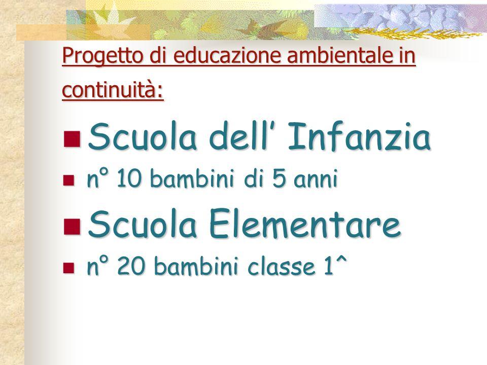 Progetto di educazione ambientale in continuità: