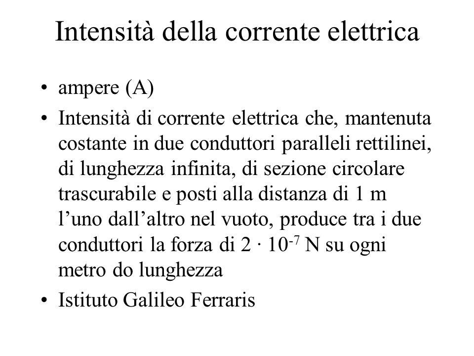 Intensità della corrente elettrica
