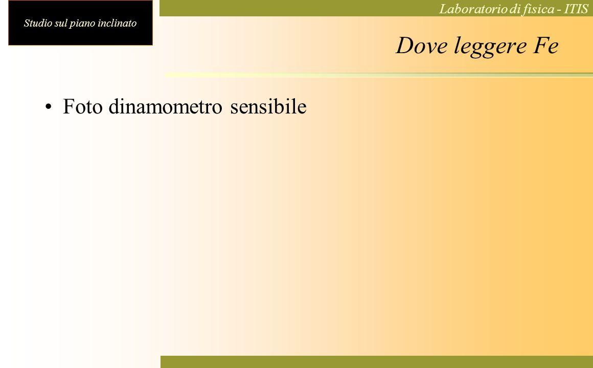Dove leggere Fe Foto dinamometro sensibile