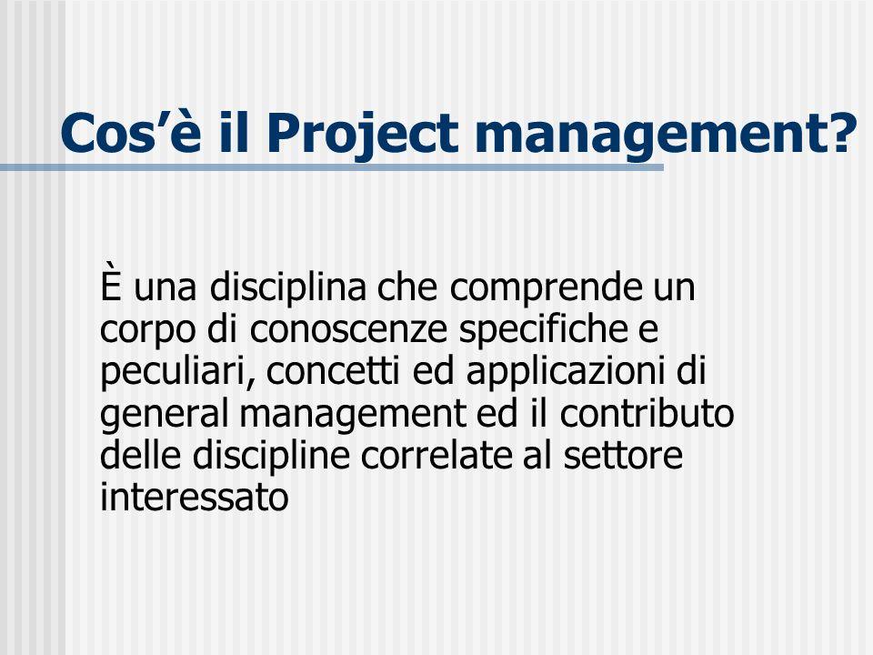 Cos'è il Project management