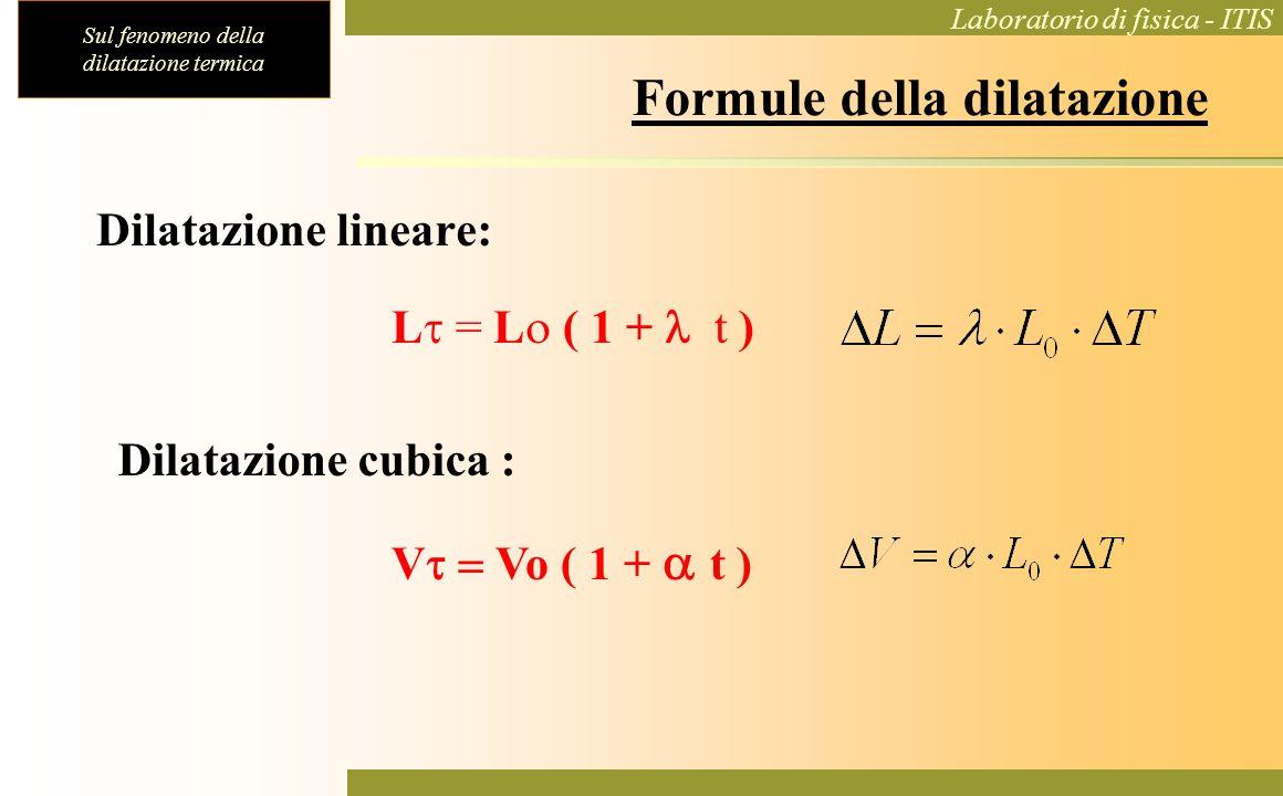 Formule della dilatazione