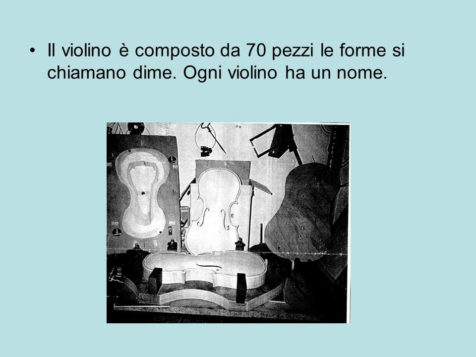 Il violino è composto da 70 pezzi le forme si chiamano dime