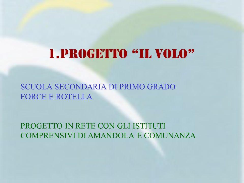PROGETTO IL VOLO SCUOLA SECONDARIA DI PRIMO GRADO FORCE E ROTELLA