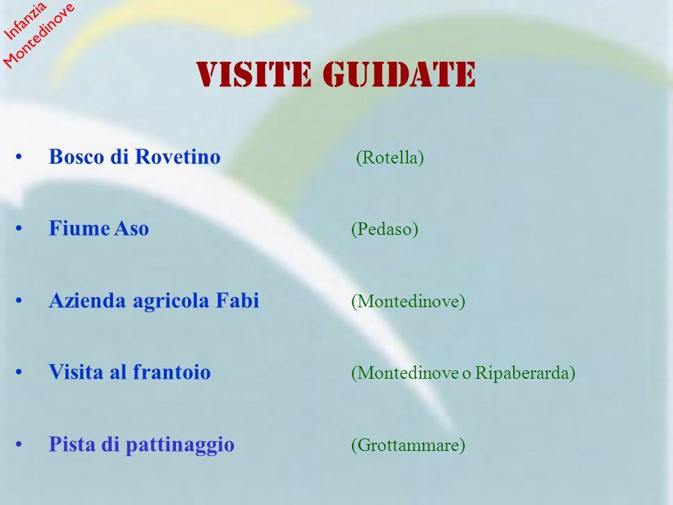 VISITE GUIDATE Bosco di Rovetino (Rotella) Fiume Aso (Pedaso)