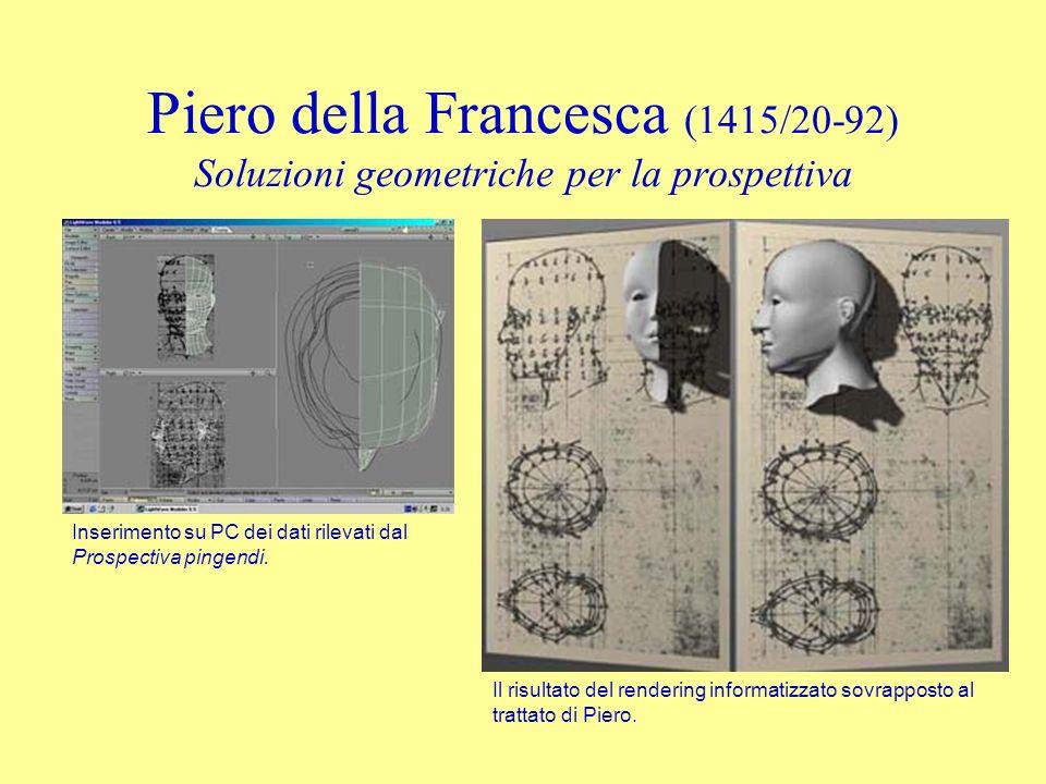 Piero della Francesca (1415/20-92) Soluzioni geometriche per la prospettiva