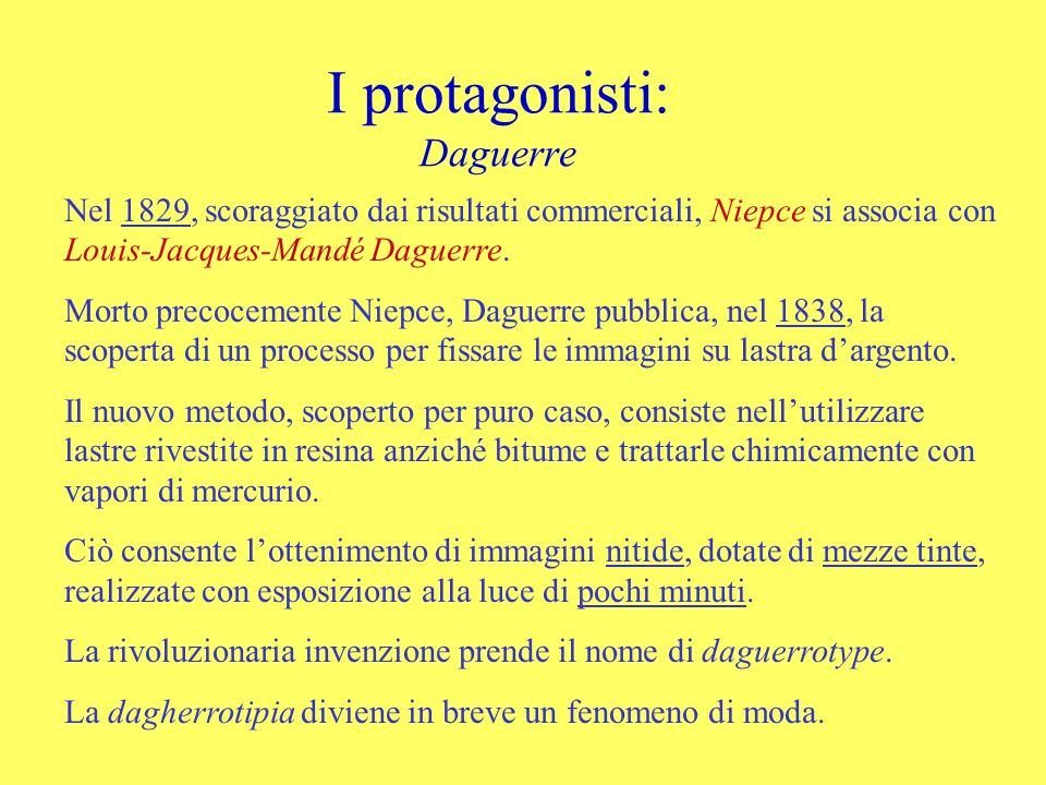 I protagonisti: Daguerre