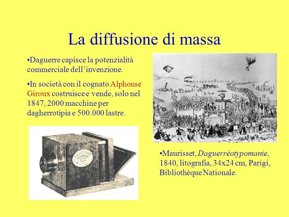 La diffusione di massa Daguerre capisce la potenzialità commerciale dell'invenzione.