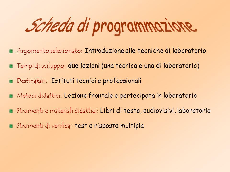 S I C S I Introduzione Alle Tecniche Di Laboratorio Ppt