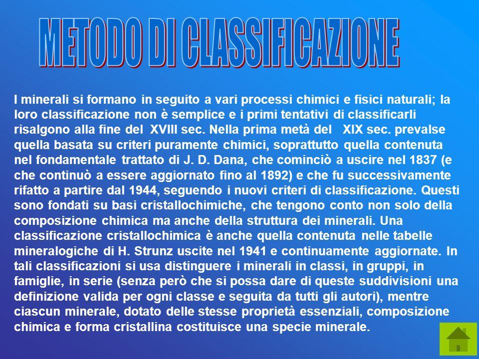 METODO DI CLASSIFICAZIONE