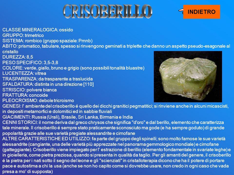 CRISOBERILLO INDIETRO