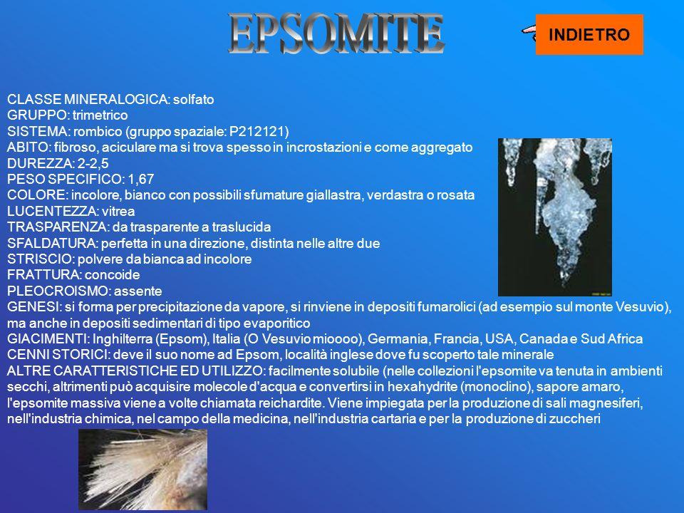 EPSOMITE INDIETRO.
