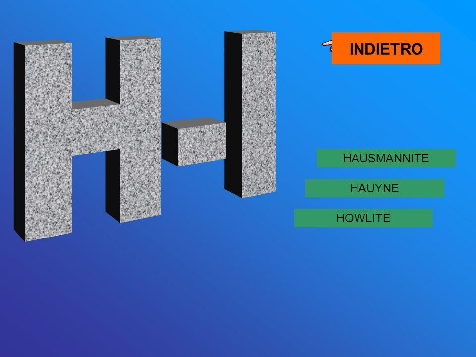INDIETRO H-I HAUSMANNITE HAUYNE HOWLITE